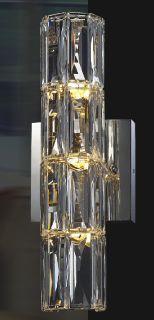 @bethelintl - C&D 4D, 4G, 3-Light clear crystal wall sconce. #DesignOnHPMkt #HPMKT #lighting