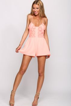 Marmalade Playsuit Peach