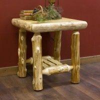 Cedar Lake Cabin log night table