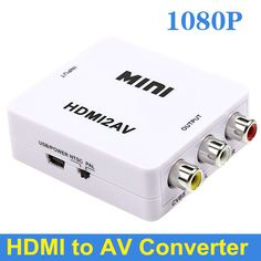 BrankBass Super Quality Full HD 1080P Mini HDMI To RCA Converter Audio Video AV CVBS HD TV VCR DVD Adapter