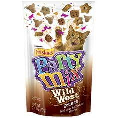 Crunchy Party Mix Pouch Cat Treats Quantity: Case of... -- Click image for more details.(It is Amazon affiliate link) #10likes