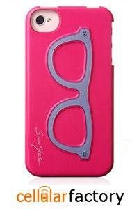 iphone iphone iphone iphone PINK BACK COVER (CARTOON GLASSES)
