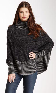 Portolano Long Dolman Sleeve Sweater Cape