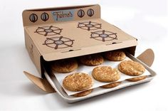 A Clever Packaging For Cookies That Looks Like An Old-Fashioned Oven