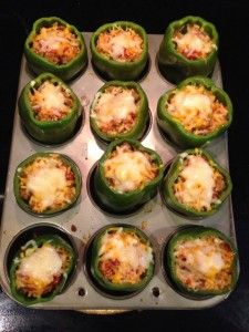 stuffed green pepper (freezes well) Pinning to remind me that I can freeze my stuffed peppers just prior to baking!