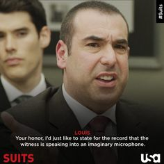 Louis Litt is a shark for detail.