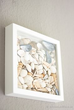 Homemade shell picture - perfect for maritime baths! # Still water . - home accessories - Homemade shell picture perfect for maritime baths!