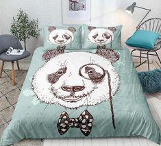 Panda Hand Drawn Bedding Set
