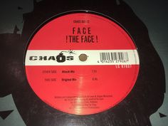 """Face The Face Chaos Records 1999 12"""" House Techno Trance Music #DiscoElectroFunkElectronicaHouseSynthPopTechnoTrance"""