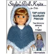 Poncho+Pattern,+fits+American+Girl+Doll+-+via+@Craftsy