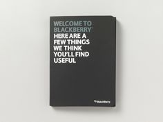 Welcome pack design for BlackBerry targeting small and medium businesses