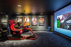 50 Video Game Room Ideas to Maximize Your Gaming Experience 50 Vide. 50 Video Game Room Ideas to Maximize Your Gaming Experience 50 Video Game Room Ideas t Best Gaming Setup, Gaming Room Setup, Gaming Desk, Gamer Setup, Gaming Rooms, Desk Setup, Gaming Headset, Home Theater Rooms, Cinema Room