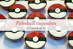 Pokeball cupcakes; zo maak je ze - MizFlurry