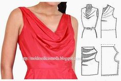 Amazing Sewing Patterns Clone Your Clothes Ideas. Enchanting Sewing Patterns Clone Your Clothes Ideas. Dress Sewing Patterns, Blouse Patterns, Clothing Patterns, Blouse Designs, Costura Fashion, Bodice Pattern, Sewing Blouses, Diy Kleidung, Outfit Trends