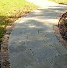 Select Blue Bluestone Walkway With Brick Paver Borders