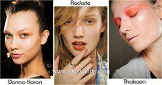 2012 Winter Color and Makeup Trends - Orange eye makeup