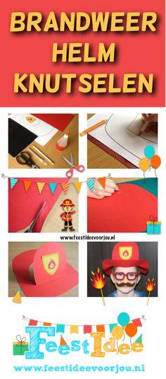 Leuke brandweer activiteit: brandweerhelm knutselen. Arts And Crafts, Diy Crafts, Paw Patrol, Firefighter, Baby Kids, Education, Drawings, School, Birthday