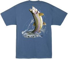 Al Agnew Trout on a Fly Back-Print T-Shirt