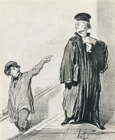 Honore Daumier: A dissatisfied litigant 1846 lithograph