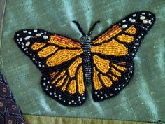 Nancy of Bead Creative takes us step by step through the process of adding a beaded image to an art quilt, crazy quilt, or other needlework project. If you need a brush-up on how to stitch the bead… Bead Embroidery Tutorial, Bead Embroidery Jewelry, Beaded Embroidery, Beaded Jewelry, Beads Tutorial, Bead Embroidery Patterns, Jewelry Patterns, Beading Patterns, Art Patterns