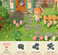 If you're in need of some cute and creative Animal Crossing designs for your island, I have a bunch of them to share with you. Images Murales, Ac New Leaf, Animal Crossing Guide, Island Theme, Path Design, Motifs Animal, Garden Animals, Metal Garden Art, Kawaii