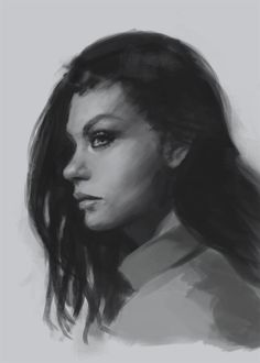 How to draw face side view
