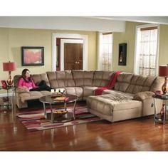 Duraplush Mocha Sectional Living Room Group