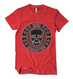 Red Disaster Skull 2014 design. Watch out for the Red Disaster. By Alex McIntyre