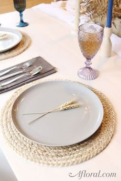 "Round Jute Woven Table Placemat in Natural Color 14.5"" Diameter"