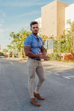 Short Sleeve Shirts for Men Short Sleeve Shirts for Men Stylish Mens Outfits, Business Casual Outfits, Mode Masculine, Suit Fashion, Mens Fashion, Tight Jeans Men, Style Masculin, Cooler Look, Herren Outfit