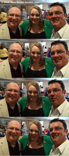 This started as a fun series with my great friends Dan Bell and Malinda Regimbal at the District 45 Toastmasters 2016 Spring Conference, May 20-22, 2016.. Of course, by the 4th shot, Malinda had to photobomb because, well, she's hilarious that way! (Dan is a Past District Governor and Malinda is the outgoing Club Growth Director for D45.)