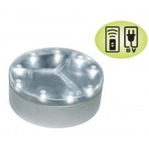 "4"" Centerpiece Mini Light Base E-Mini™ 9 w/9 LED Lights REMOTE CONTROL/AC ADAPTER CAPABLE!"