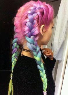 blue hair, colored hair, green hair, hair, pastel goth, pink hair, purple hair, rainbow hair, tattoo choker