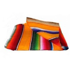 Large Authentic Mexican Saltillo Sarapes Throw Rugs Colorful Mexican Blankets Orange/pumpkin $27.99