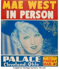 Mae West Palace Live Performance Poster (1938). Extremely Rare.... | Lot #89295 | Heritage Auctions