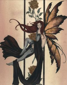 Amy Brown Amber Rose III Fairy Ceramic Tile Art