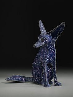 """Saatchi Online Artist: Anne Lemanski; Mixed Media, Sculpture """"FENNEC FOX (DOG STAR)"""""""