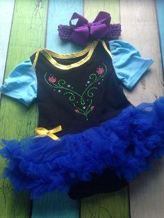 Frozen Anna inspired tutu bodysuit