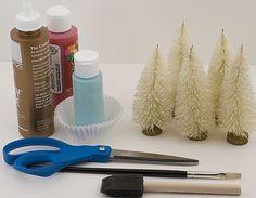 bottle brush christmas trees....so easy