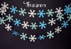 Great for any party! Snowflake Garland-Frozen Garland-Mint by MilestonesandPebbles Frozen Snowflake, Snowflake Garland, Snowflakes, Frozen Birthday Party, Frozen Party, Birthday Parties, Disney Frozen, Garlands, Mint