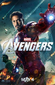 Avengers Character Poster With Iron Man