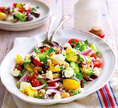 Bean & feta salad