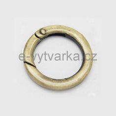e-vytvarka - Karabina kruhová, pr.35 mm - starozlato - nakupujte levně
