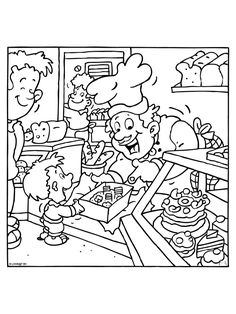 School Coloring Pages, Coloring Pages For Kids, Coloring Sheets, Coloring Books, Community Workers, Community Helpers, Printable Crafts, Printables, Rainy Day Activities
