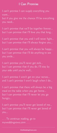 Read this wedding vow - hearted by myweddingvows.com ♥