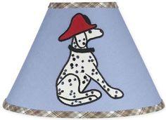Sweet Jojo Designs Firetruck Lamp Shade available at TinyTotties.com #tinytotties #kidsroomdecor