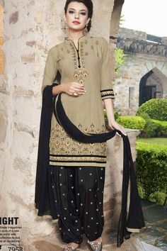 THIS WEEKEND SPECIAL OFFER BEIGE COTTON PATIALA SUIT Price - £40.00 Occasion	Party Wear, Wedding Wear, Festival Wear, Ceremonial Color	Black, Beige Fabric	Cotton, Chiffon, Santton Discount	21%-30% Work	Embroidered Time To Ship:	Ready To Ship #ootd #outfit #fashion #online #fashionable #shopping #pretty #suits #salwarkameez #trendy #ethnic #designer #design #wedding #weddingdress #london #londonfashion #indian #indianwedding #shopkund