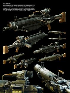 The Art of Fallout 4 Fallout Art, Fallout 4 Weapons, Fallout Props, Fallout Concept Art, Sci Fi Weapons, Fallout New Vegas, Weapon Concept Art, Fantasy Weapons, Rpg