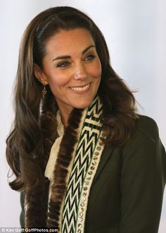 Kate was a picture of beauty in the traditional raven's tail scarf gifted to her during her visit
