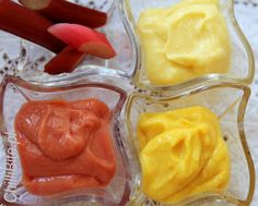 Kwaskowy krem, czyli lemon, orange i rhubarb curd Rhubarb Curd, Icing, Peanut Butter, Lemon, Pudding, Sweets, Orange, Pastries, Food